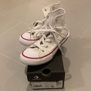 White hi-top Converse - sz 1 youth
